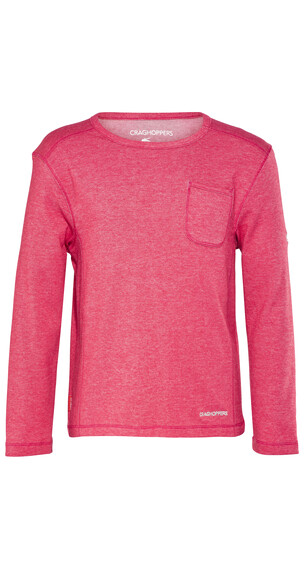 Craghoppers Nosilife Louise T-Shirt Children Electric Pink Marl